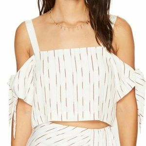 Bishop + Young Tie Sleeve Crop Top